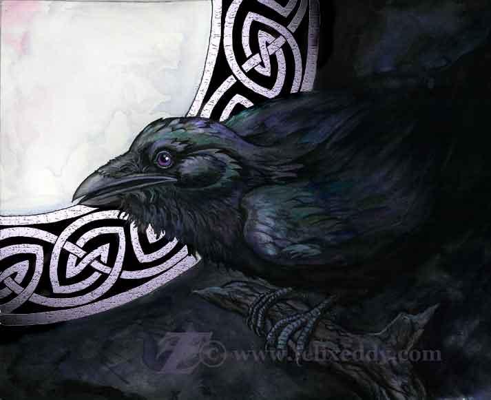 Celtic Raven by felixxkatt