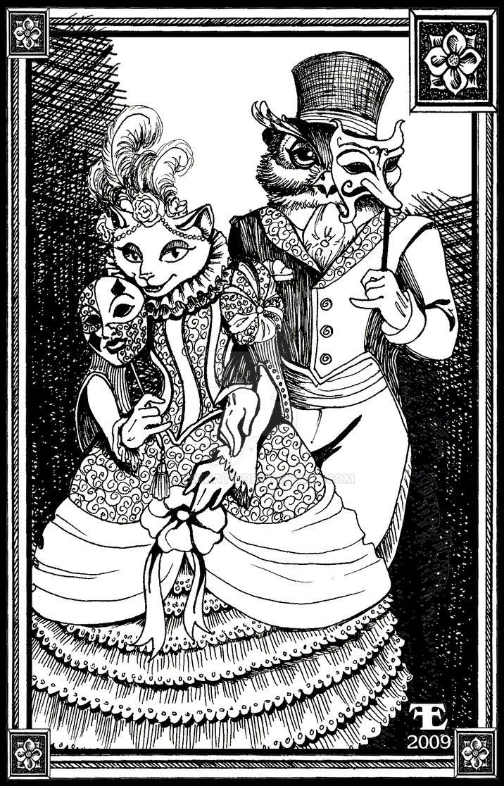 Owl and Puss Masquerade Ball by felixxkatt