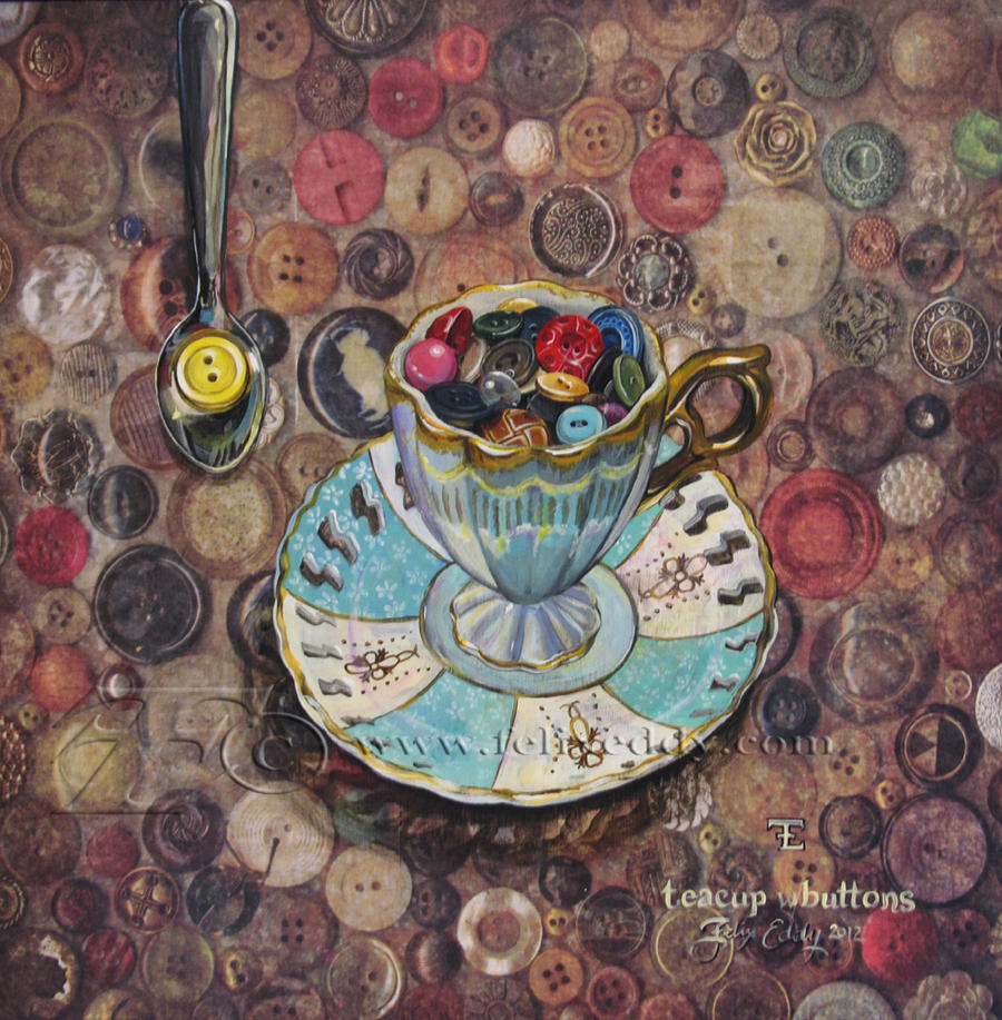 Teacup w/Buttons by felixxkatt