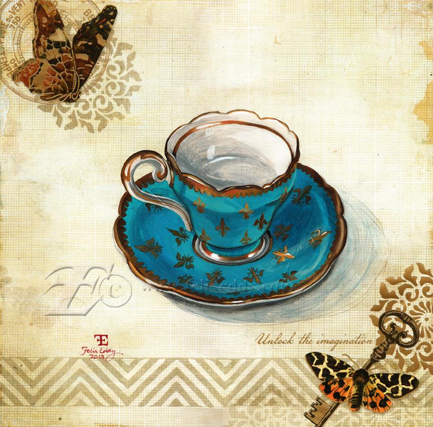 Fleur Teacup by felixxkatt