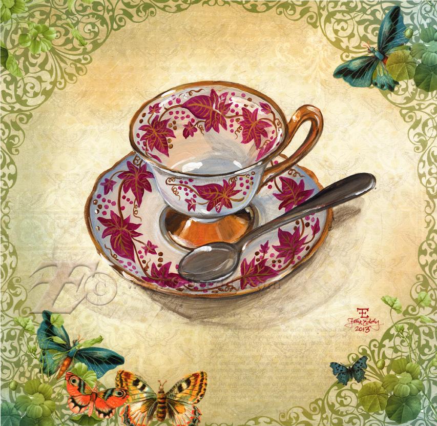 Spring Foliage Teacup by felixxkatt
