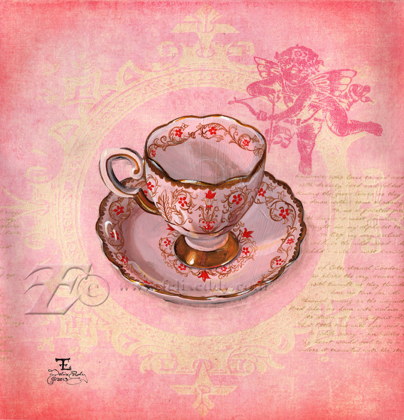 Valentine Teacup by felixxkatt
