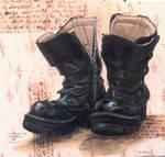 Self-Portrait: Boots