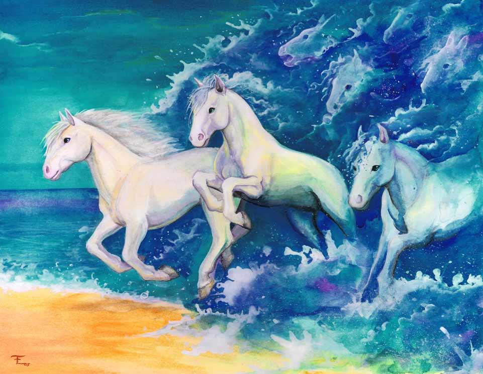 Mythical water horses - photo#9
