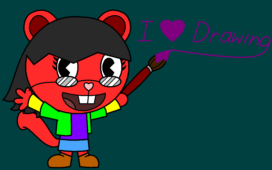 I heart drawing by