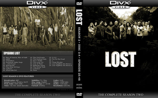 LOST Season 2 DVD Cover by by2on on DeviantArt