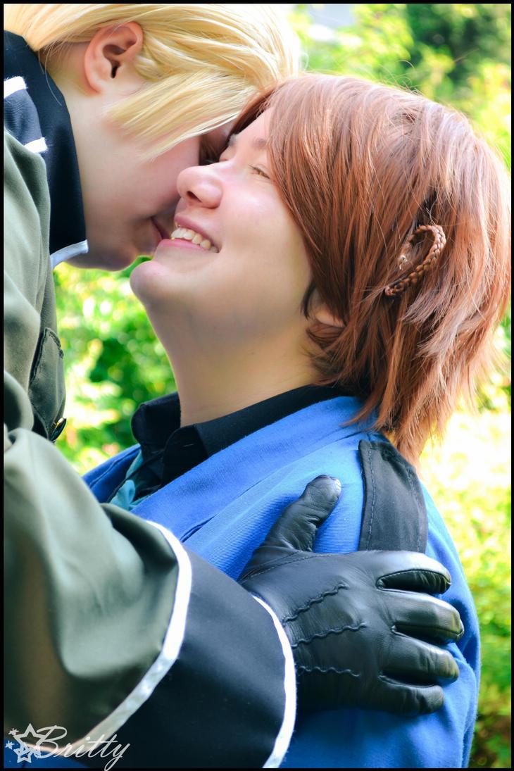 Hetalia Germany and Italy - Kiss me, vee~ by Nazu-chan
