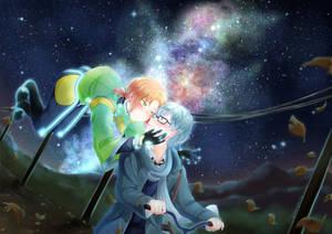 Farewell under the night sky