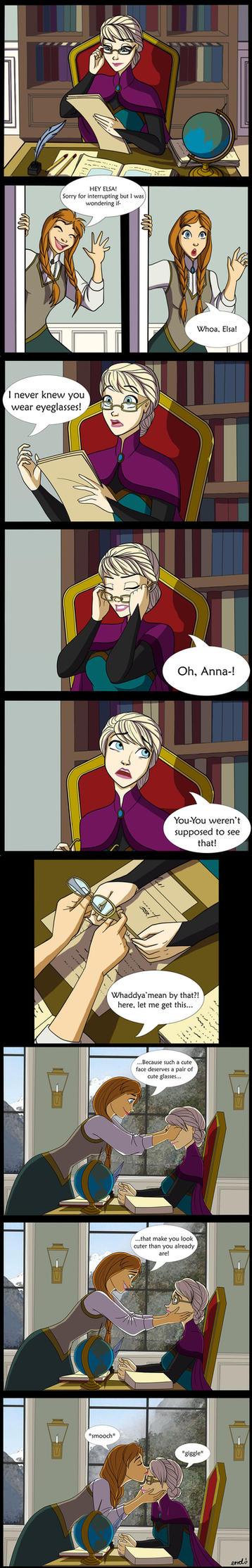 Elsa's Eyeglasses Comic by mizzizabellaSMS