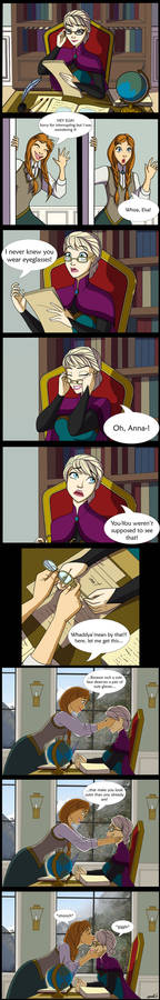 Elsa's Eyeglasses Comic