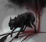 Injured wolf design