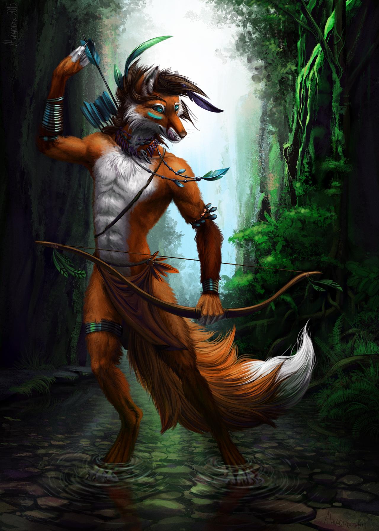 Wild hunter by Alaiaorax
