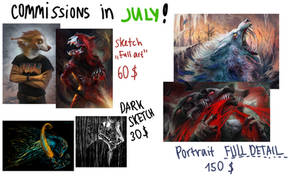 COMMISSIONS FOR JULY!