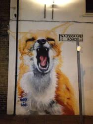 Turnpike Lane Fox by Boe-art