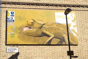 Whitecross Street Party Chameleon by Boe-art