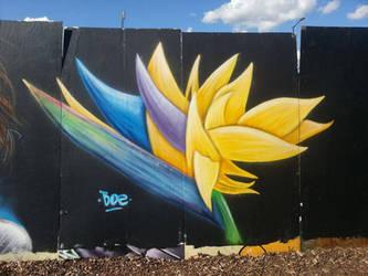 Overground Paint Jam - Bird of Paradise Flower by Boe-art