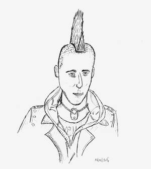 Punk guy ('cause he does punk things)