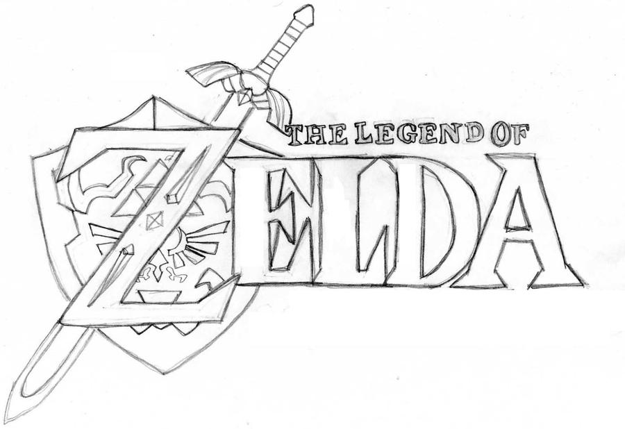 D Line Drawings Logo : Zelda logo by tashfeen on deviantart