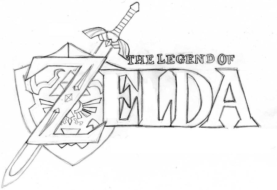 D Line Drawings Logo : Zelda logo by tashfeen on deviantart