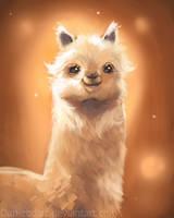 DAILY PAINT :  LLama!  #61 by Dan-zodiac