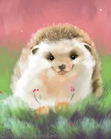 DAILY PAINT :  Little Hedgehog  #62 by Dan-zodiac
