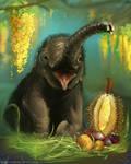 DAILY PAINT : Elephant Calf#79