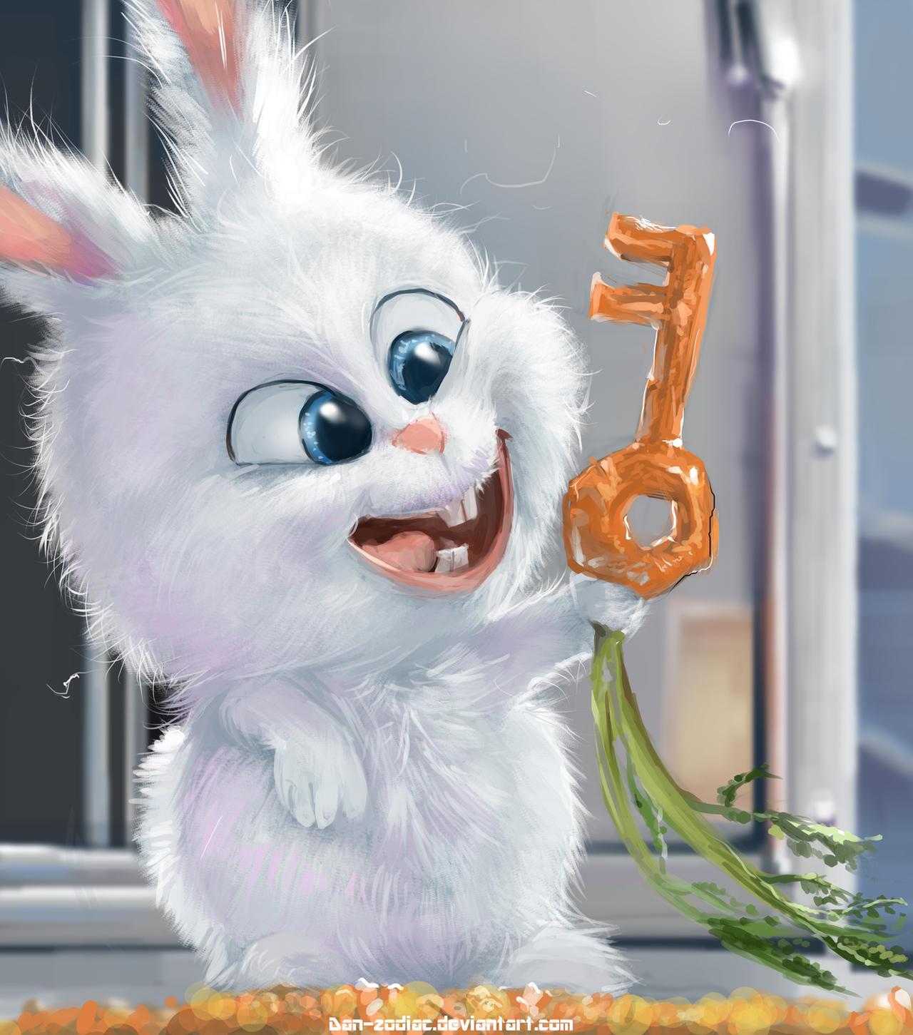 Fanart : The Secret Life Of Pets : Snowball By Dan-zodiac