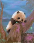 DAILY PAINT : Playful Panda cub #87 by Dan-zodiac
