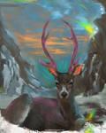 DAILY PAINT : Happy Deer #88