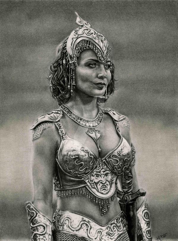 Athena Goddess of Wisdom by DarkGuardiann