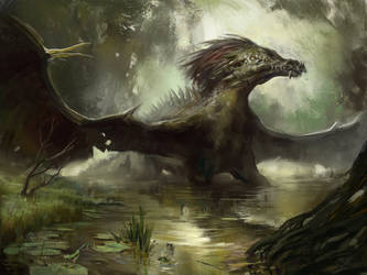 Swamp Dragon by Lord-of-the-slugs