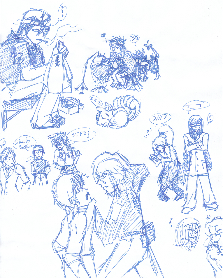 work doodles - pkmn + AoH by Aisuryuu