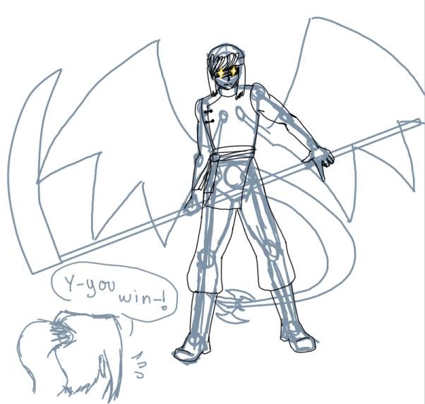 sketch - Angry Draco vs Kiri by Aisuryuu