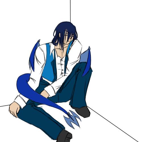 AoH - ExhaustedDishevled Draco by Aisuryuu