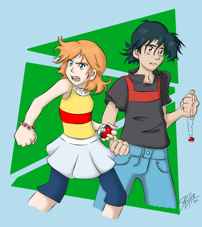 OWM Contest - Ash + Misty by Aisuryuu