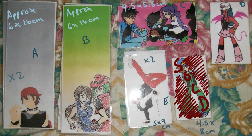 Bookmarks - $2 ea. Set 02 by Aisuryuu