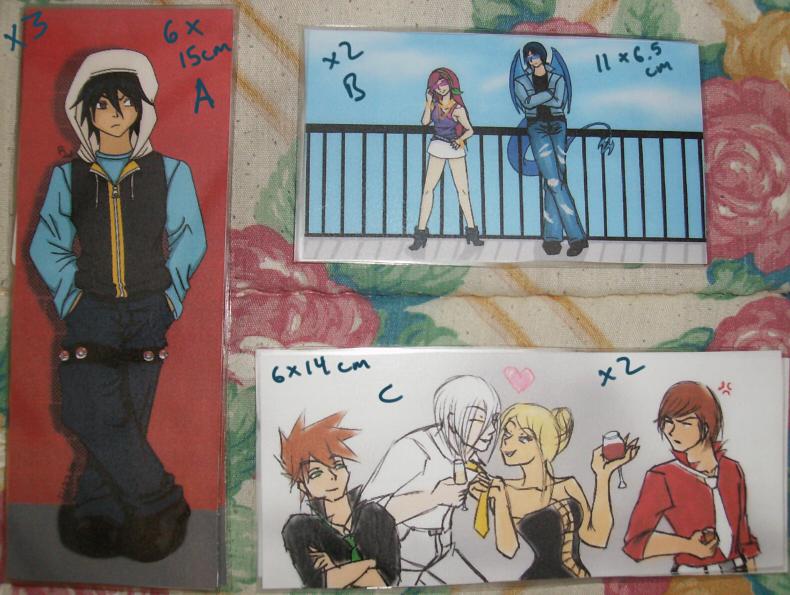 Bookmarks - $4 ea. Set 02 by Aisuryuu