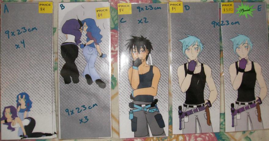 Bookmarks - $4 ea. Set 03 by Aisuryuu