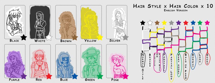 meme - Hair style-colour x10 by Aisuryuu