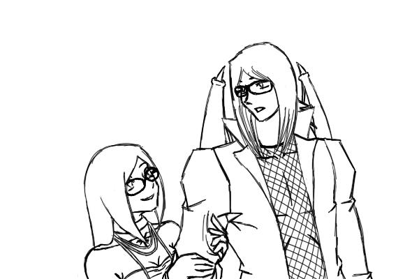 yet another AU - Draco + Kiri by Aisuryuu