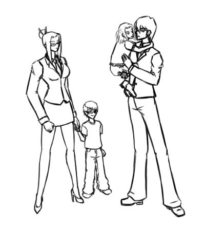YGO - Kaiba Family by Aisuryuu