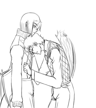 sketch - Draco n Aiden by Aisuryuu