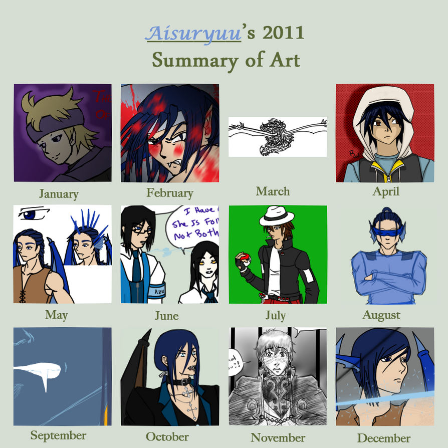 2011 summary of art by Aisuryuu
