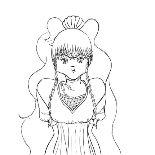 AoH - Azu 45 minute sketch trade by Aisuryuu