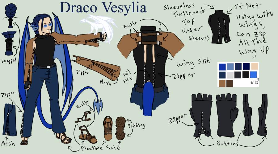 Draco Vesylia - 'Hero' or work outfit by Aisuryuu