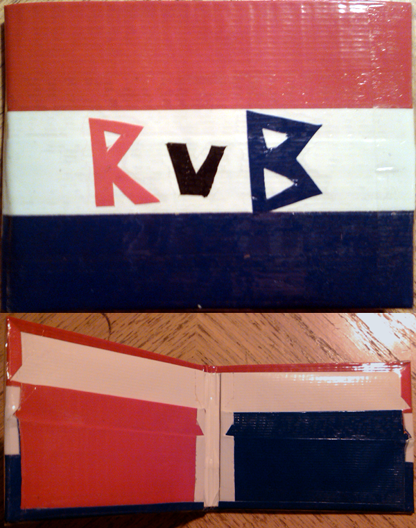 Duct Tape - Slick Wallet - Red vs Blue by Aisuryuu