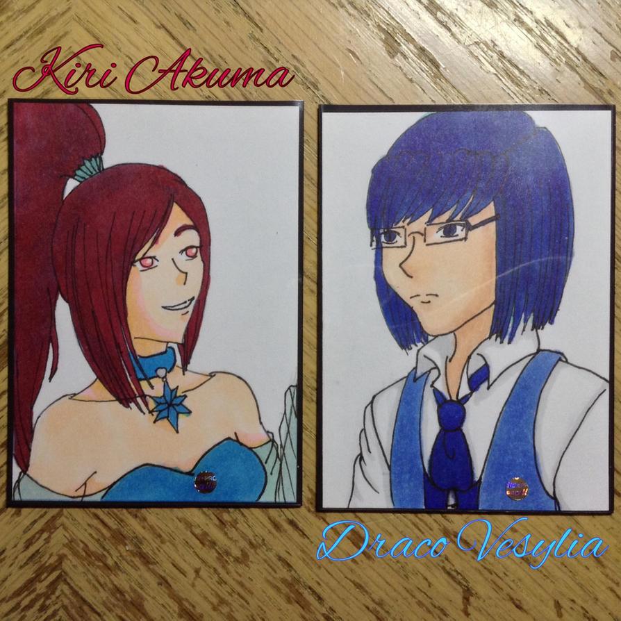 AoH - Copic Test - Freshman Kiri n Draco by Aisuryuu