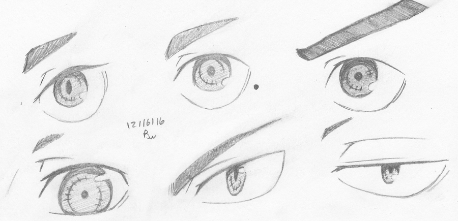 Dec '16 Eye sketch practice by Aisuryuu