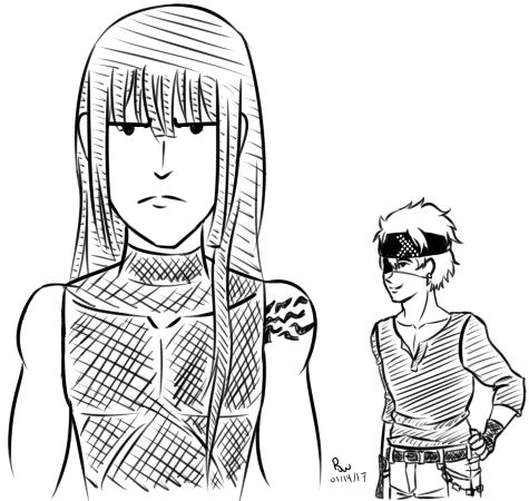 Draw the Squad - Kanda n Lavi by Aisuryuu