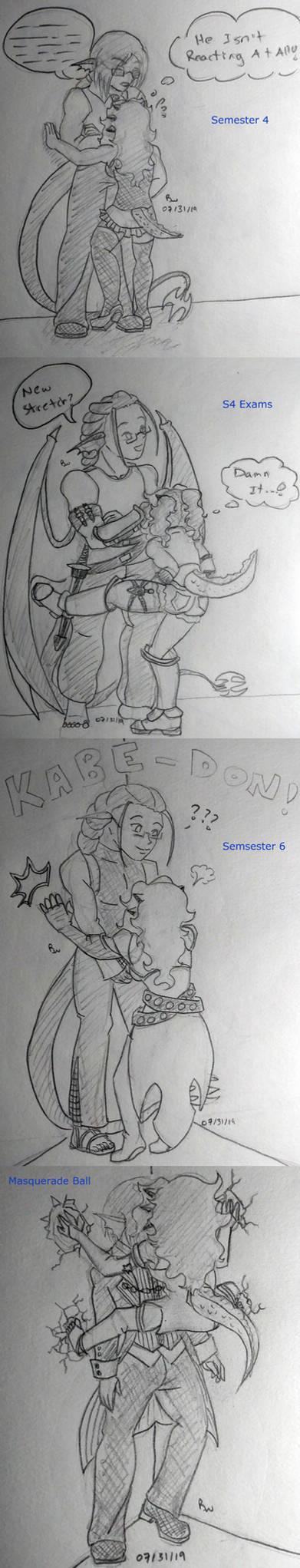 AoH - meme - DracoLen - Kabe-don